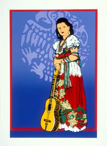 """""""Con Cariño, Lydia Mendoza"""" print by Ester Hernandez"""