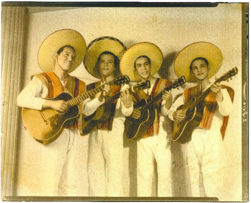 Lalo Guerrero (third from left) with his band Los Carlistas in the 1930s