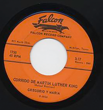 """Corrido de Martin Luther King"" record label"