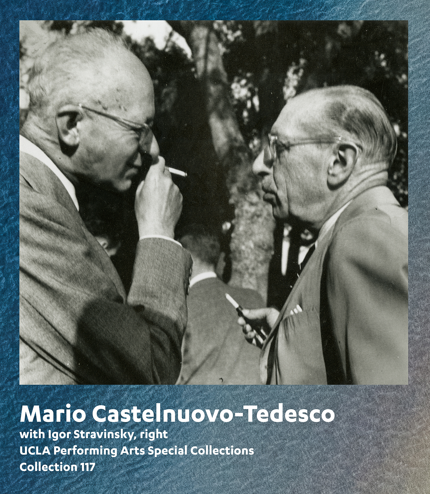 Mario Castelnuovo-Tedesco with Igor Stravinsky, right, UCLA Performing Arts Special Collections, Collection 117