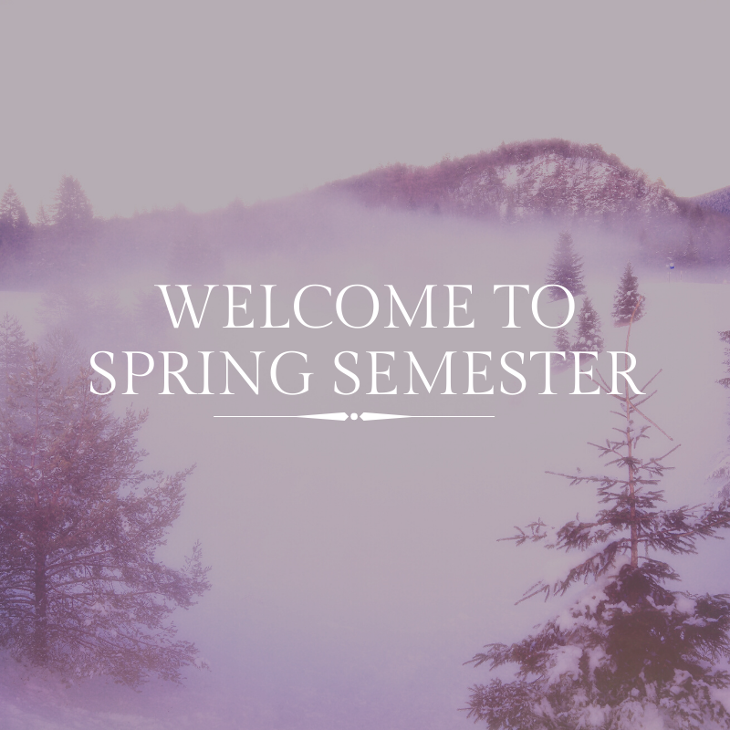 Image Welcome to spring semester
