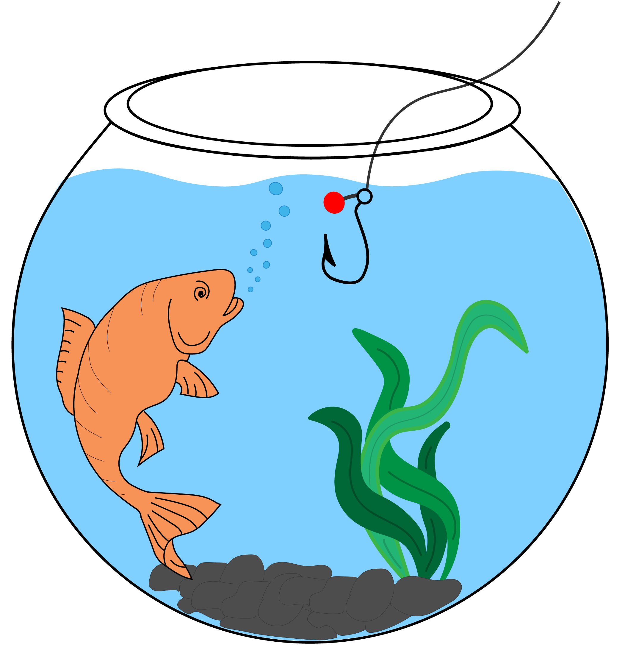 cartoon bowl of a fish