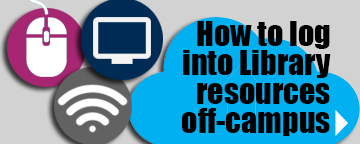 How to log into library resources off-campus