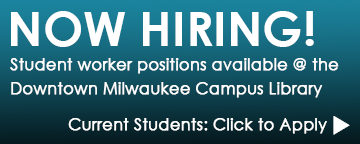 Now hiring student workers at the Downtown Campus Library. Click to apply.