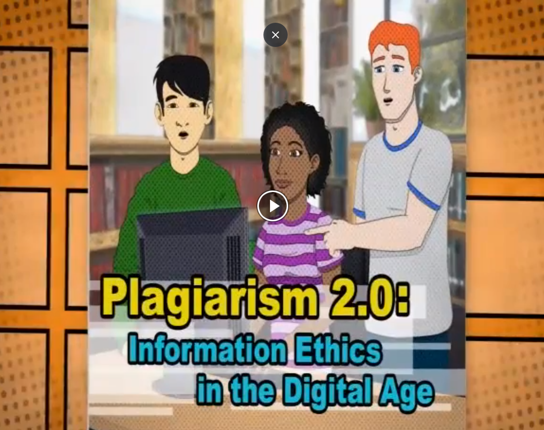 Click on picture to access the Avoiding Plagiarism video