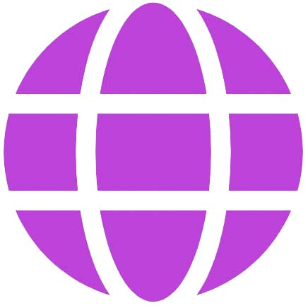purple globe icon