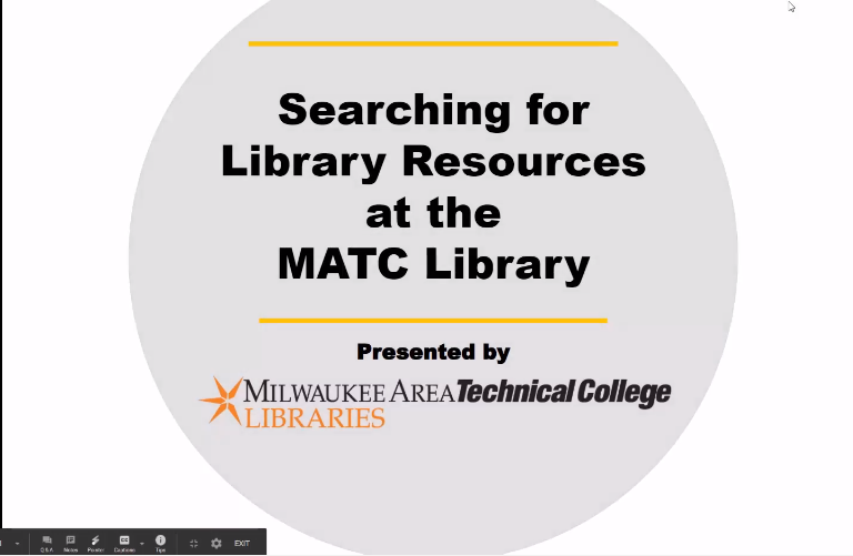 Searching for Library Resources video