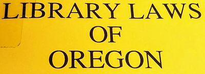 Library Laws of Oregon image