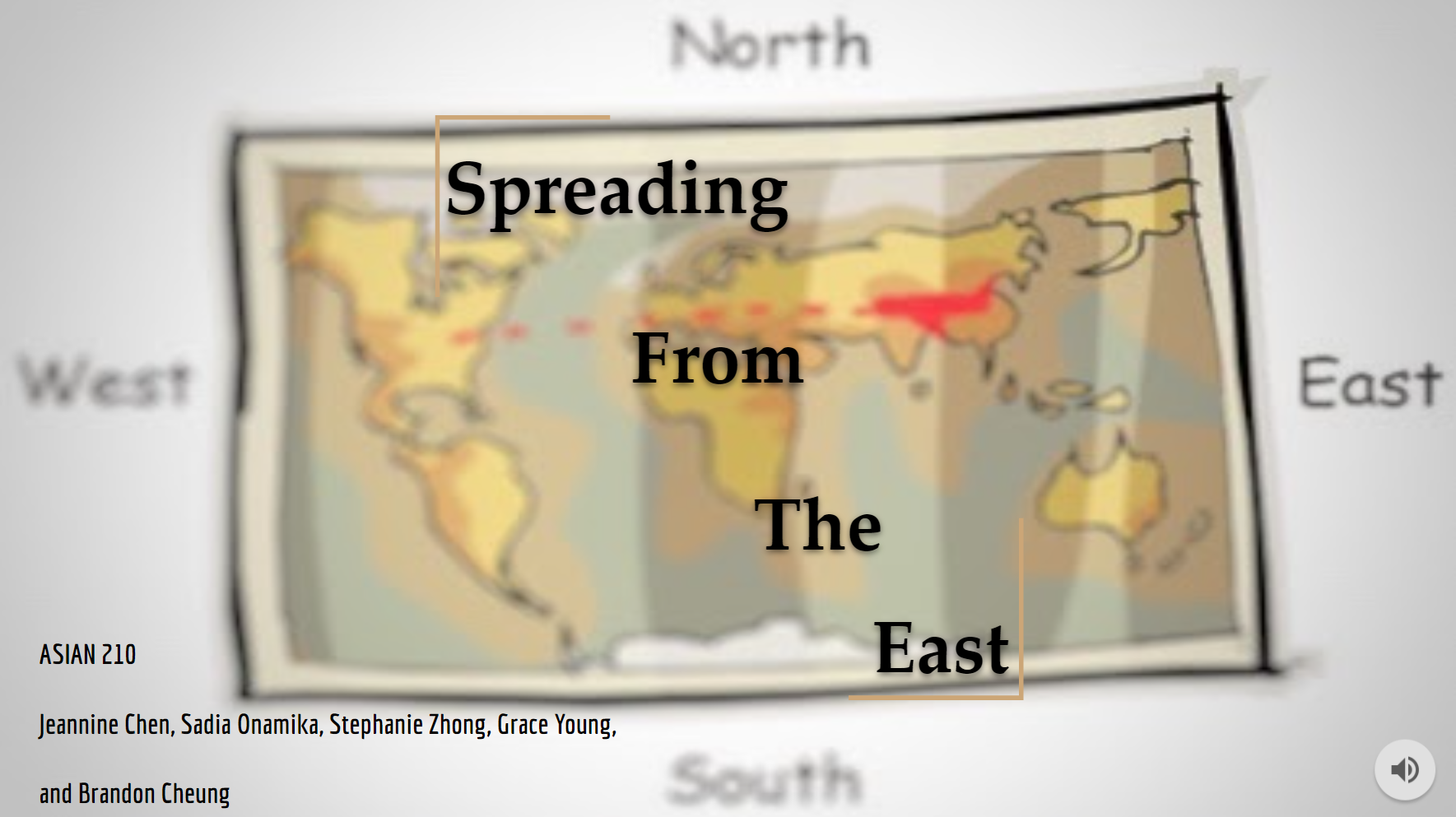 Title slide for presentation: Spreading from the East