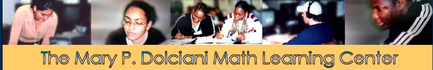 Math Learning Center header