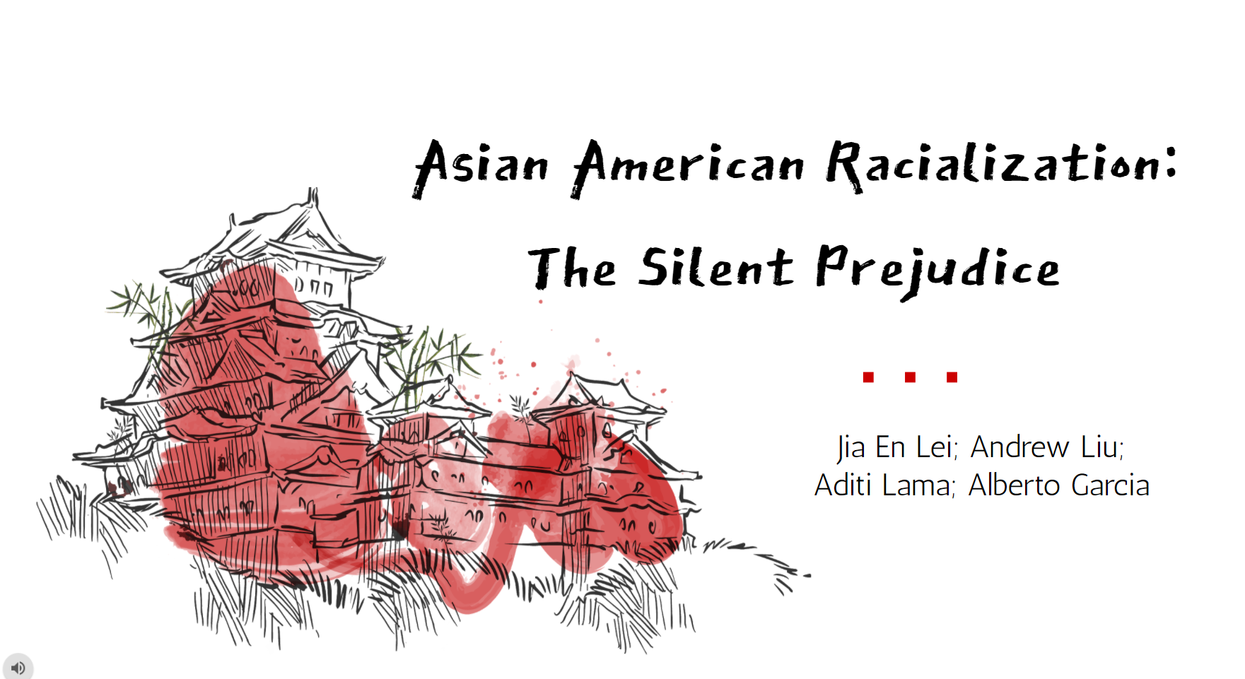 Title slide from presentation: Asian American Racialization: The Silent Prejudice