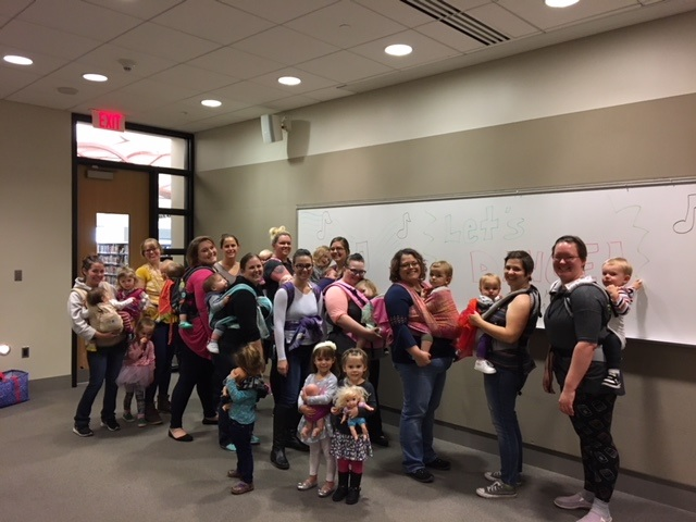 Babywearing Dance party at the Allen County Public Library in Fort Wayne, IN