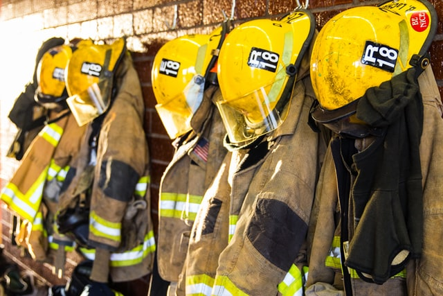 Firefighter turnout gear by Matt Chesin