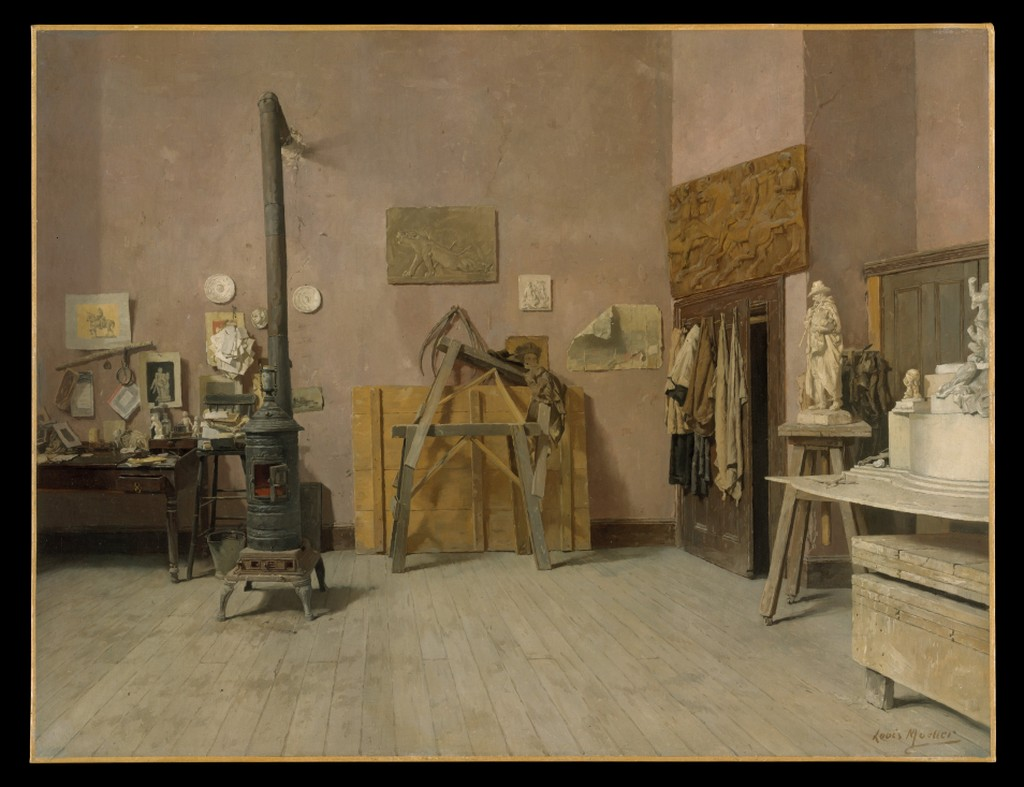 sculptors studio painting