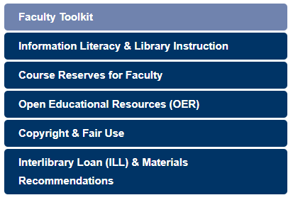 Faculty toolkit