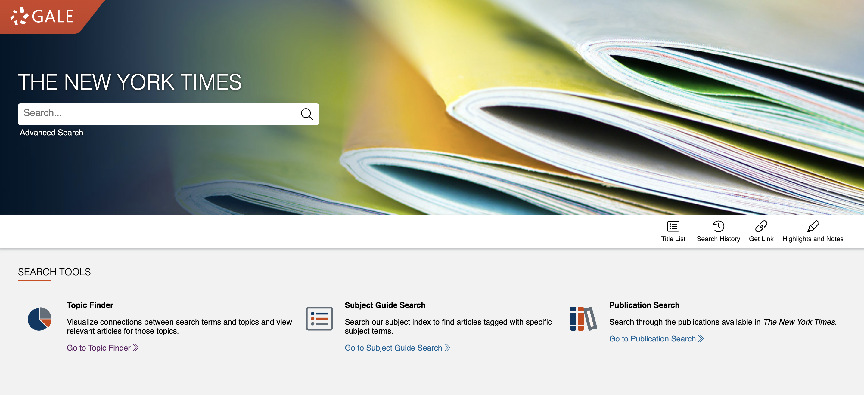 New York Times Search box