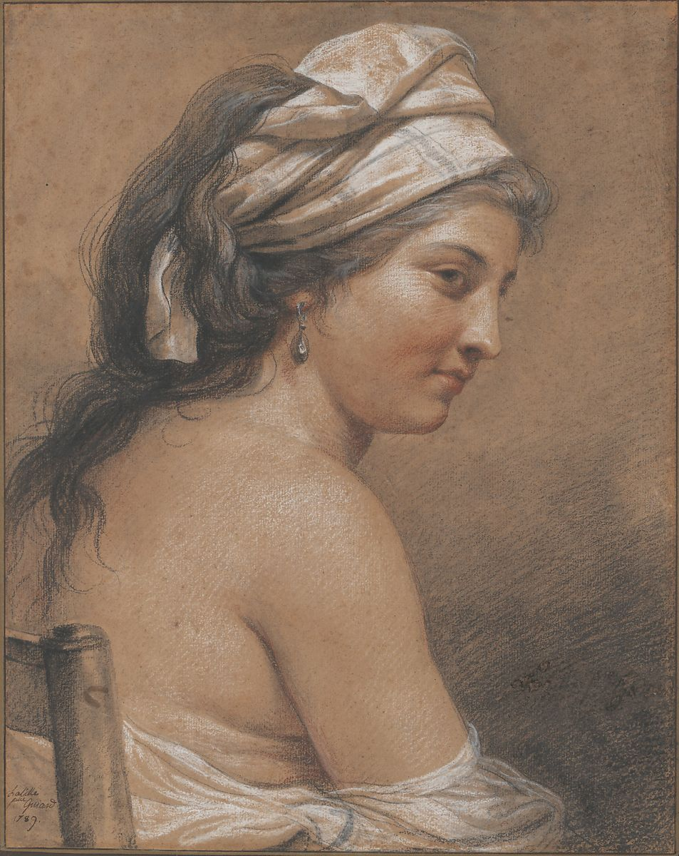 Study of a Seated Woman Seen from Behind (Marie-Gabrielle Capet) by Adélaïde Labille-Guiard