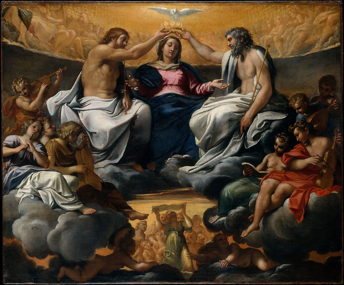 The Coronation of the Virgin by Annibale Carracci