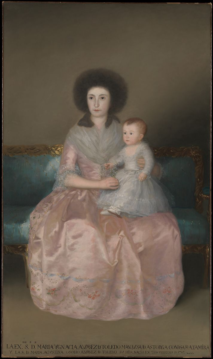 Condesa de Altamira and Her Daughter, María Agustina by Goya