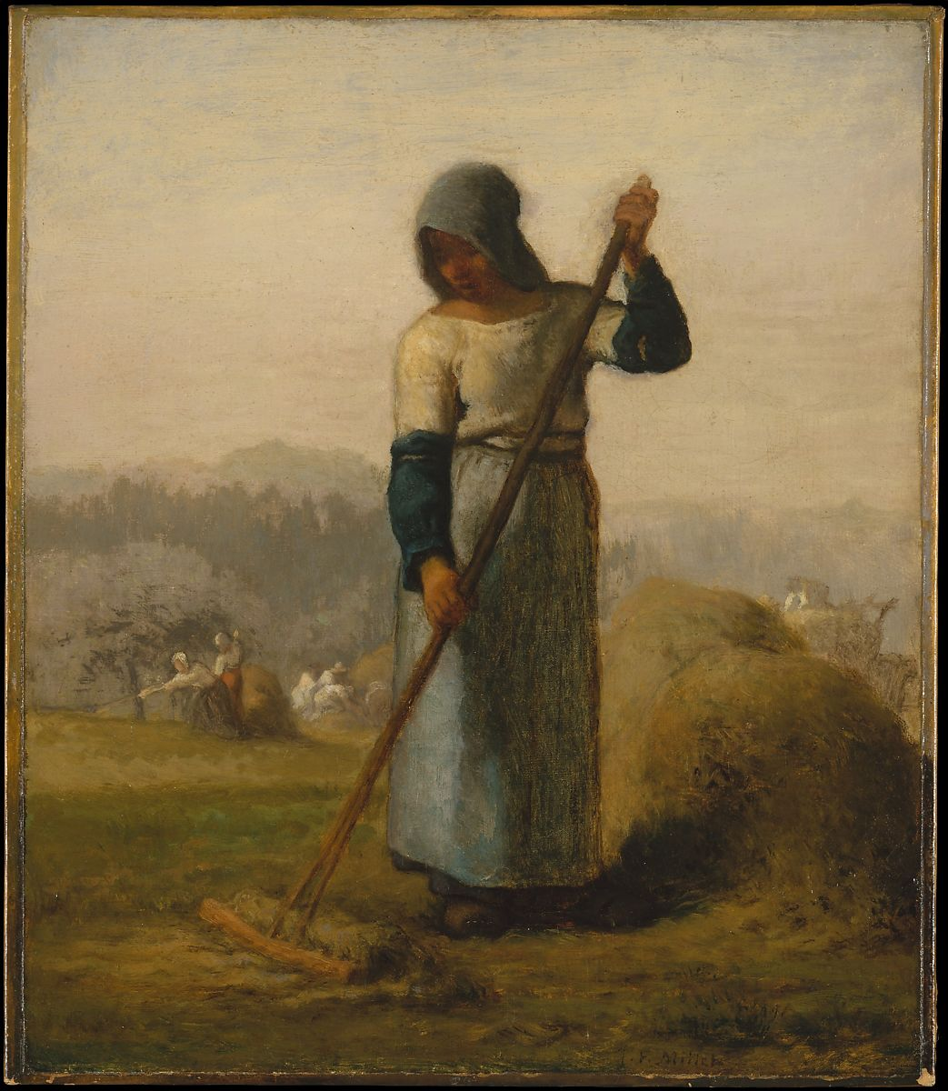 Woman with a Rake by Jean-François Millet
