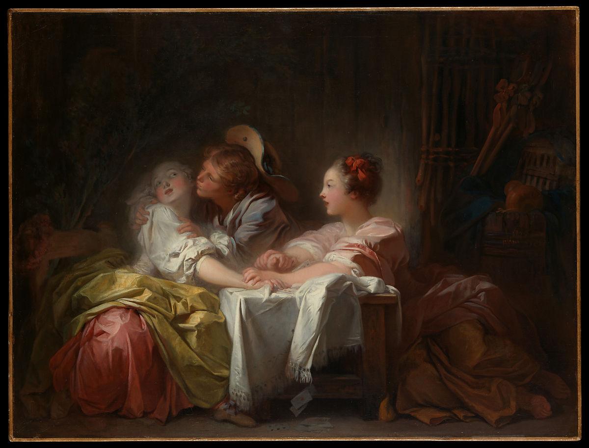 The Stolen Kiss by Jean Honoré Fragonard