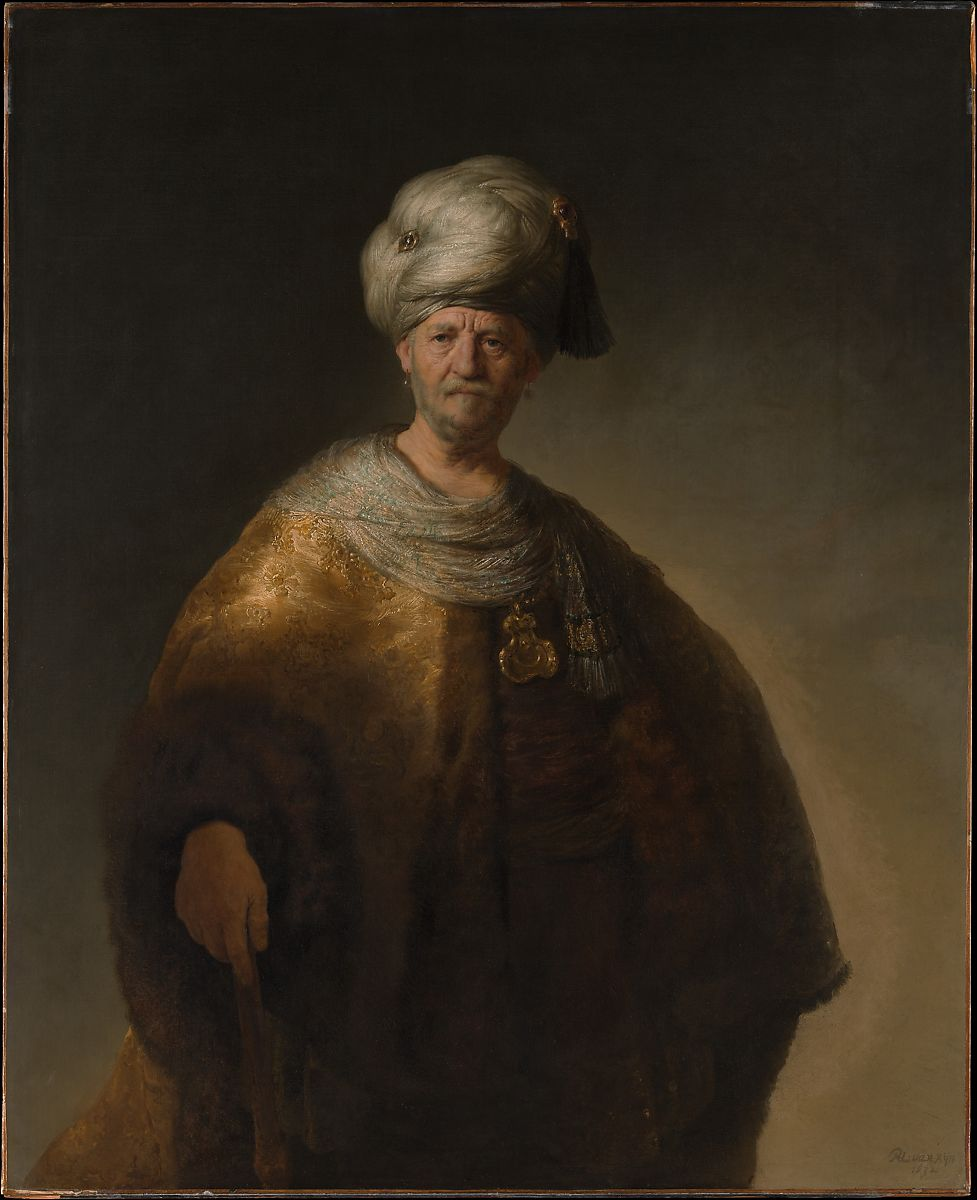Man in a turbin by Rembrandt