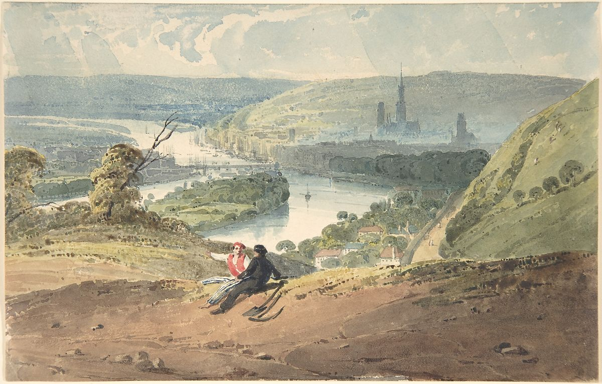 View of Rouen from St. Catherine's Hill by Richard Parkes Bonington