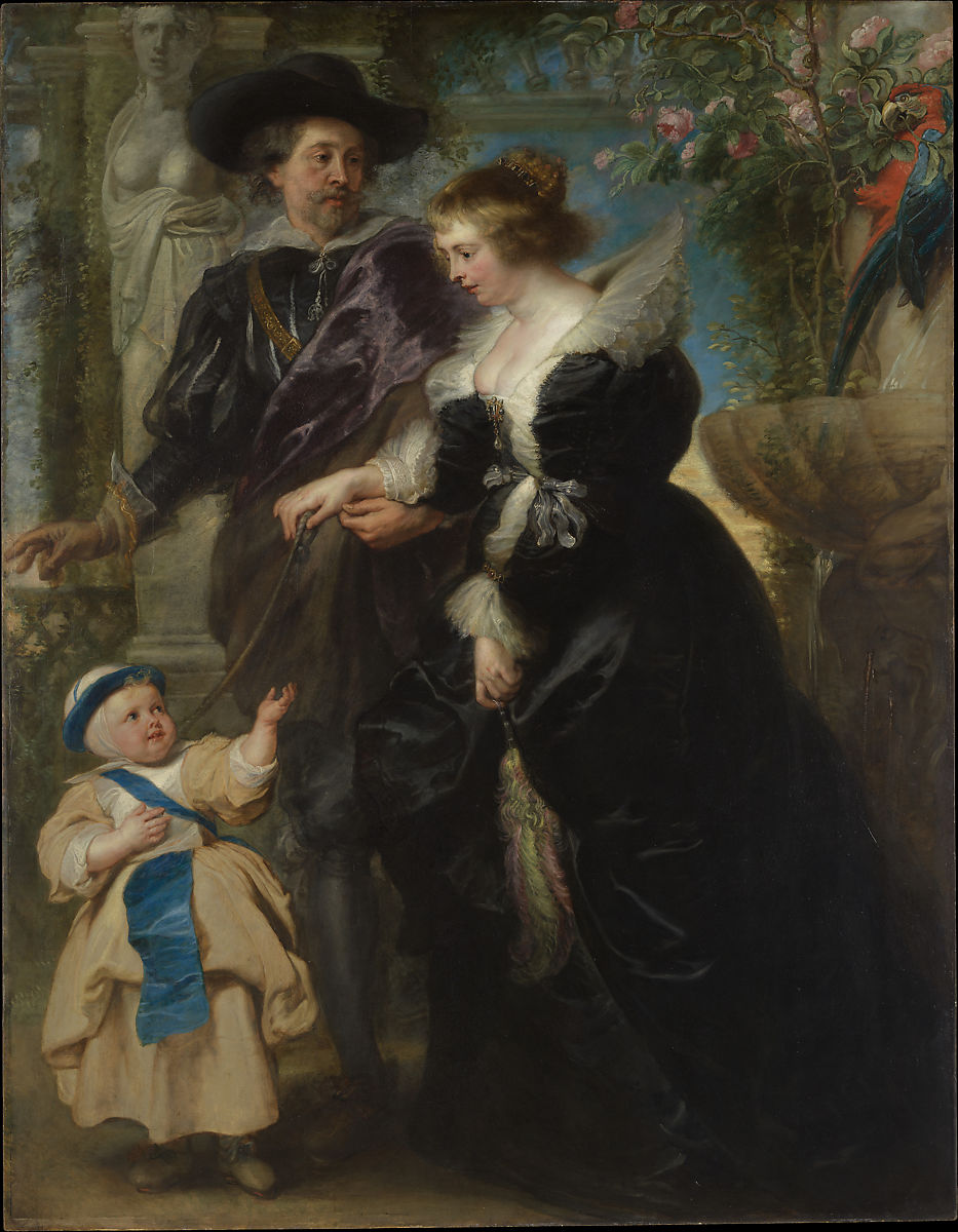 Rubens, His Wife Helena Fourment (1614–1673), and Their Son Frans (1633–1678) by Peter Paul Rubens