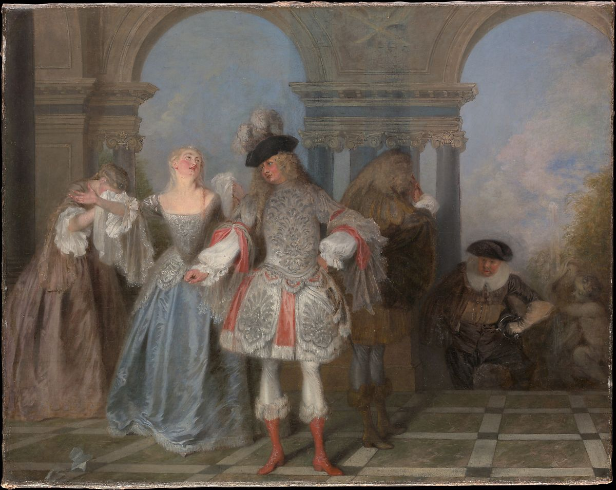 The French Comedians by Antoine Watteau
