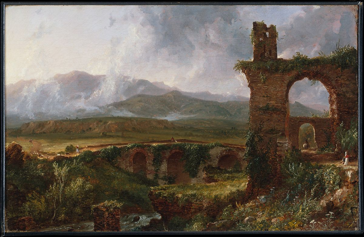 A View near Tivoli (Morning) by Thomas Cole