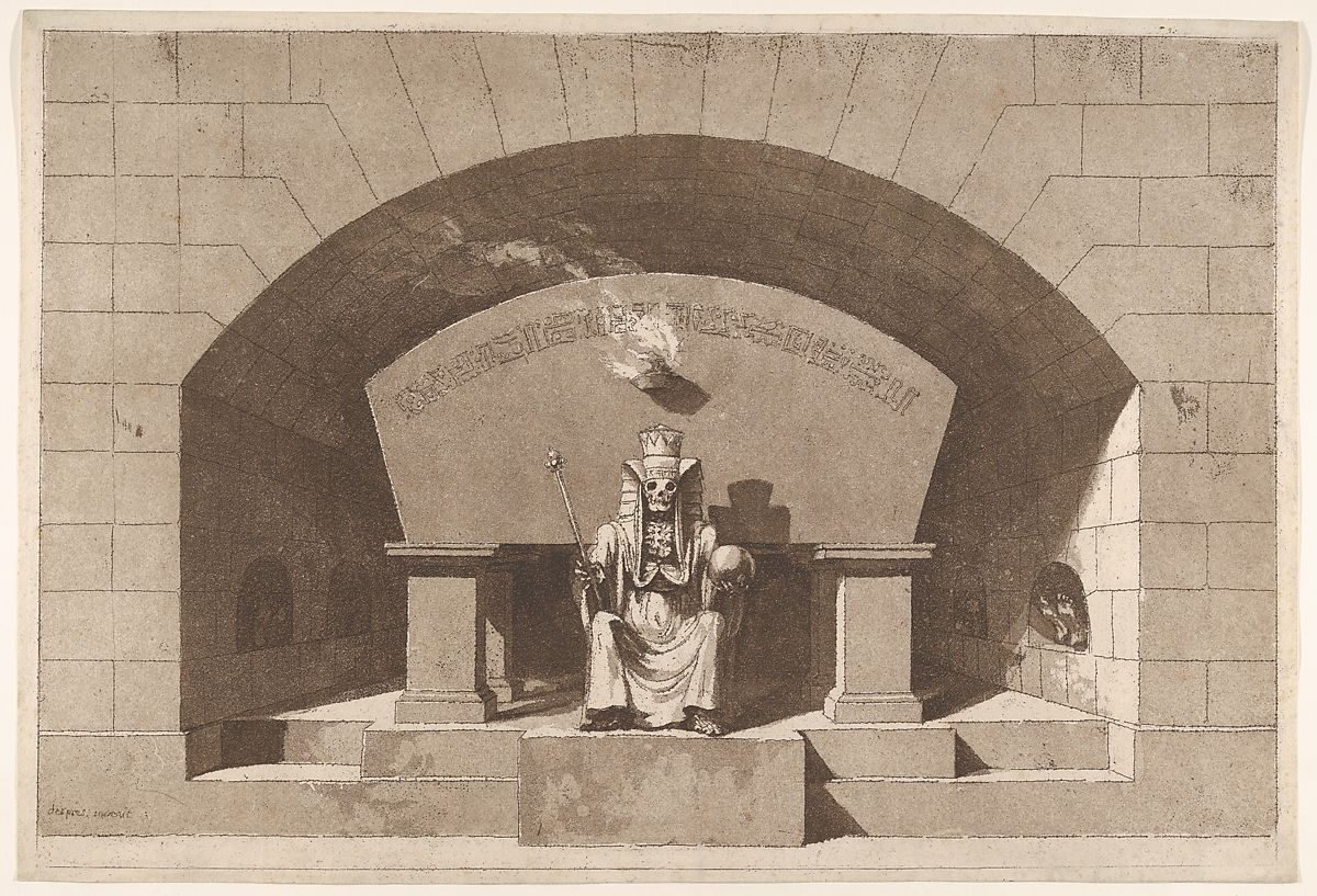 Tomb with Death Enthroned as a Sphinx by