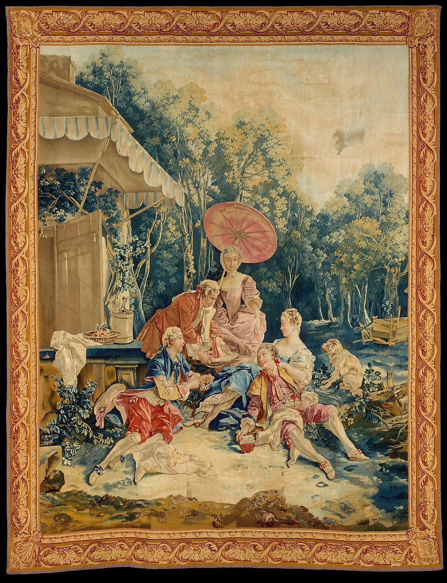 The Collation from a set of the Italian Village Scenes by  François Bouche