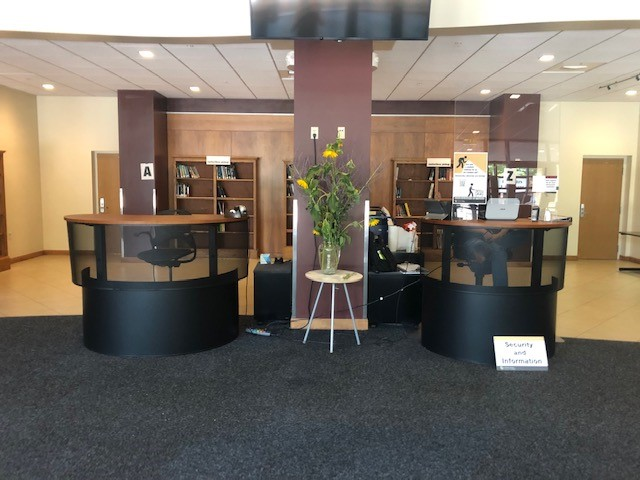 Norlin Library Circulation and Information Desks on the East Entrance of the building