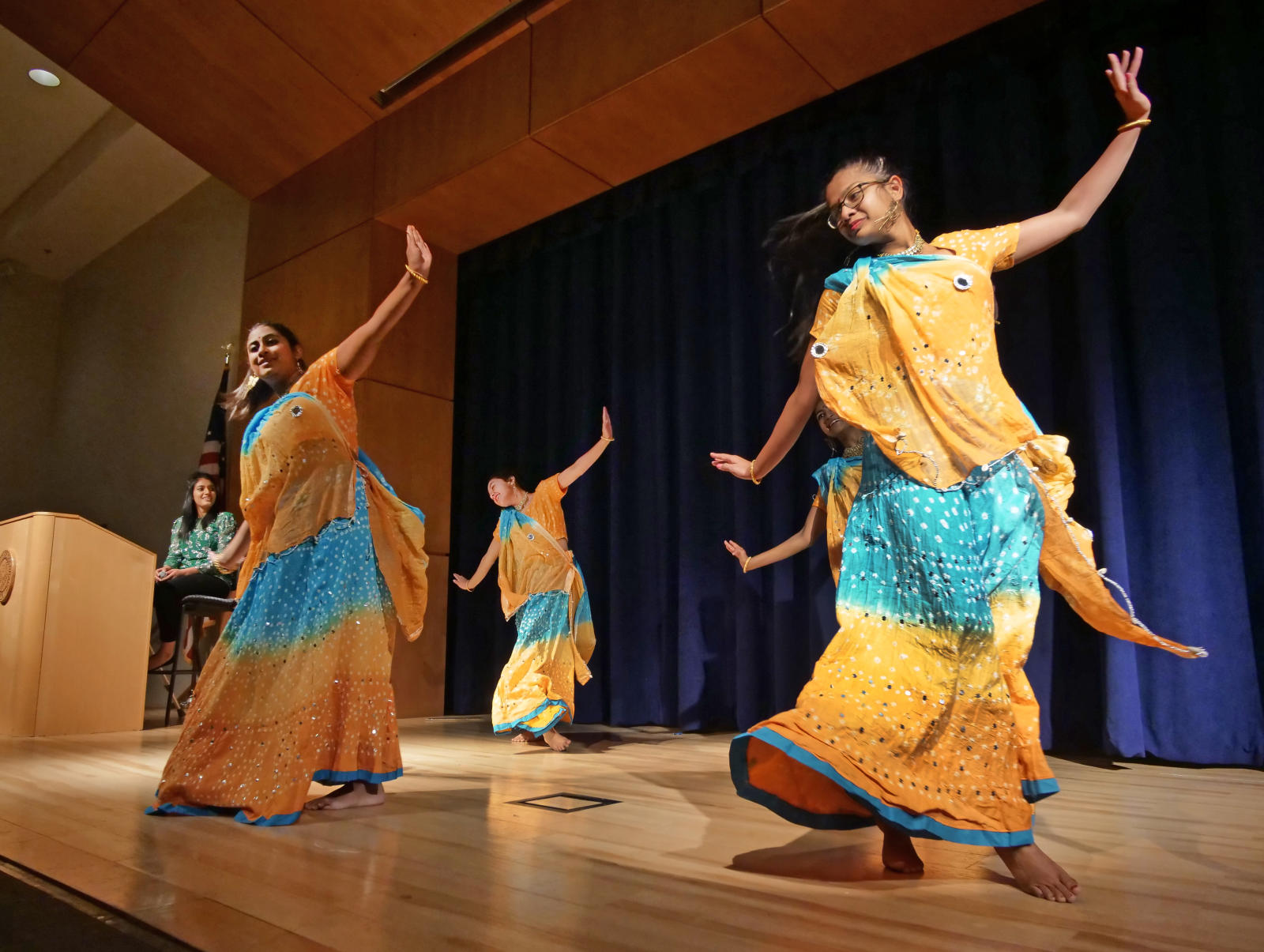 Dancers performs during the CU Live! Student Performances session at the 2018 Diversity and Inclusion Summit in the UMC at the University of Colorado Boulder. (Photo by Casey A. Cass/University of Colorado)