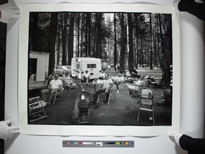 Campers in the forest
