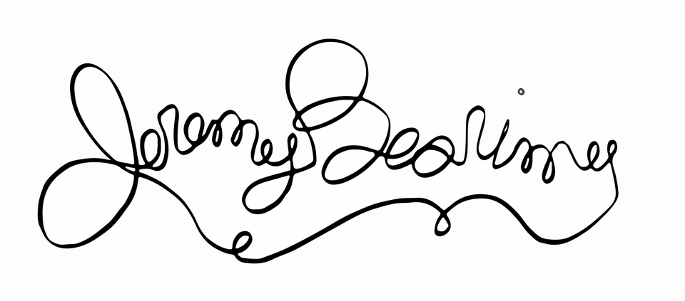 The name 'Jeremy Bearimy' written in script