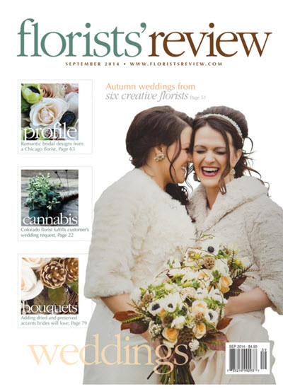 The front page of the September 2014 issue of Florists' Review