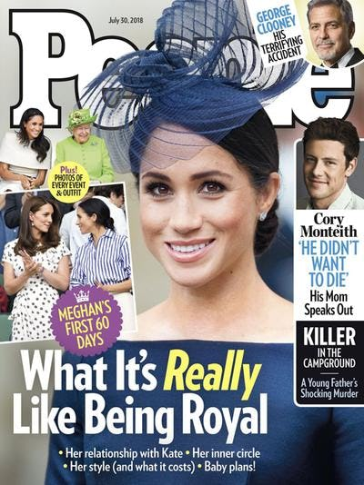 The cover of the July 30, 2018 issue of People magazine