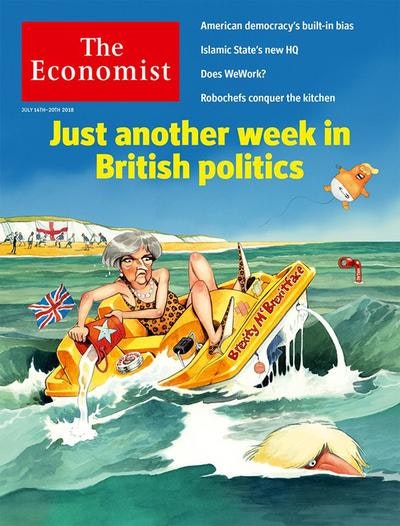 The front page of the July 14, 2018 issue of The Economist