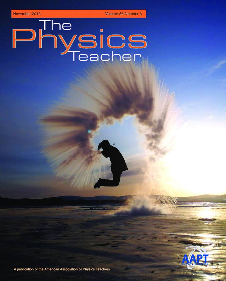The cover of the November 2018 issue of The Physics Teacher