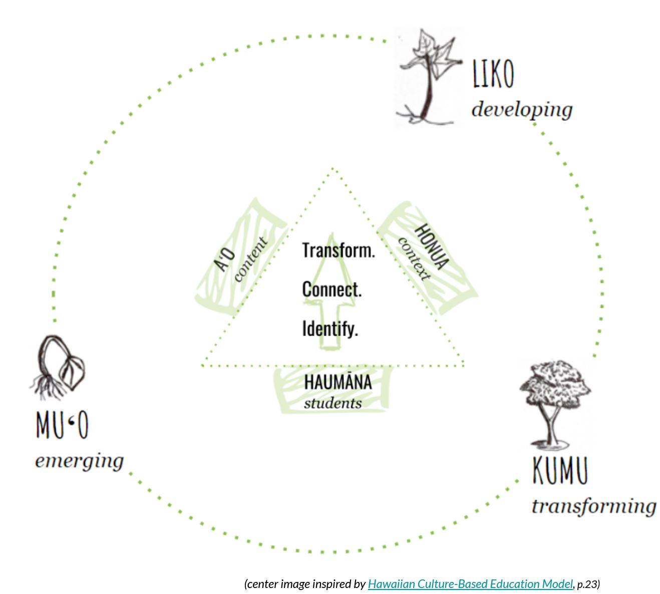 ABL learning cycle of muʻo liko kumu.