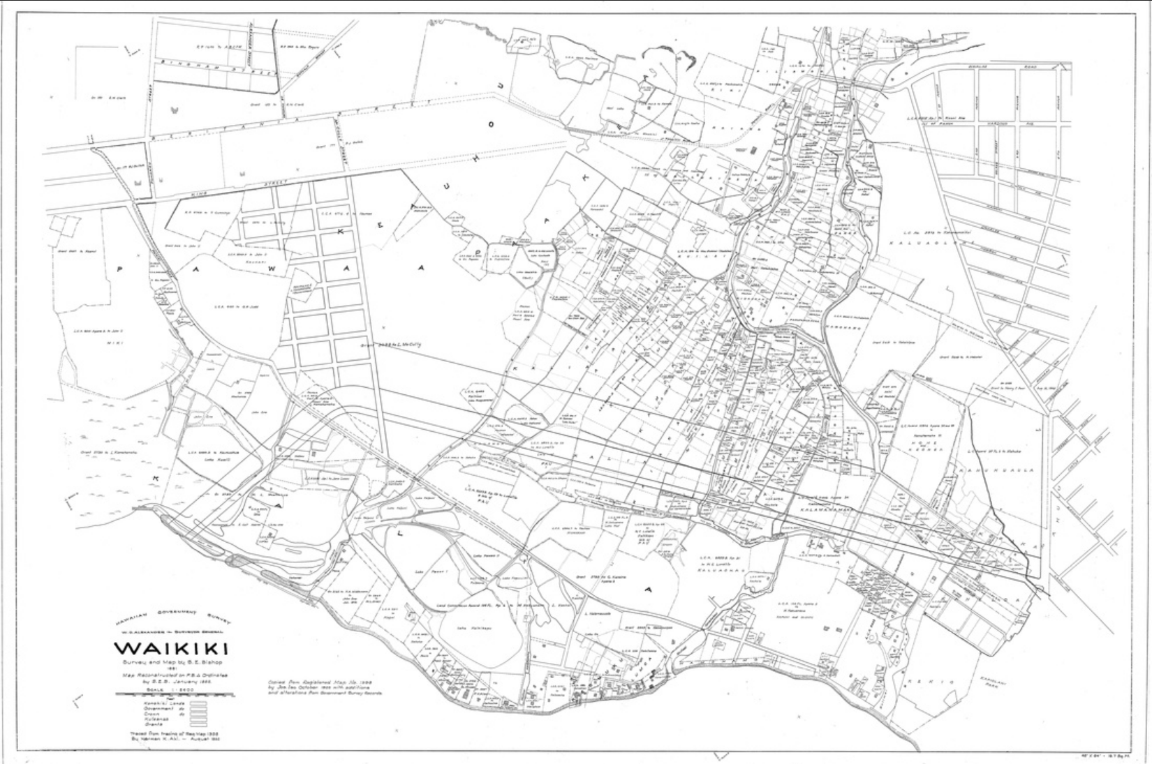 AVAKonohiki Waikiki historical map.