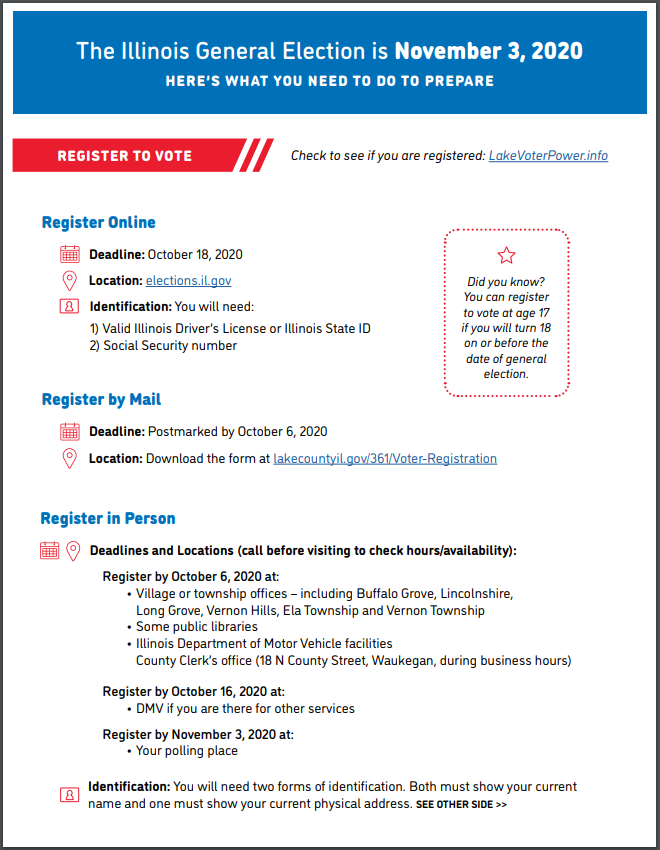 Screenshot of printable voter's guide