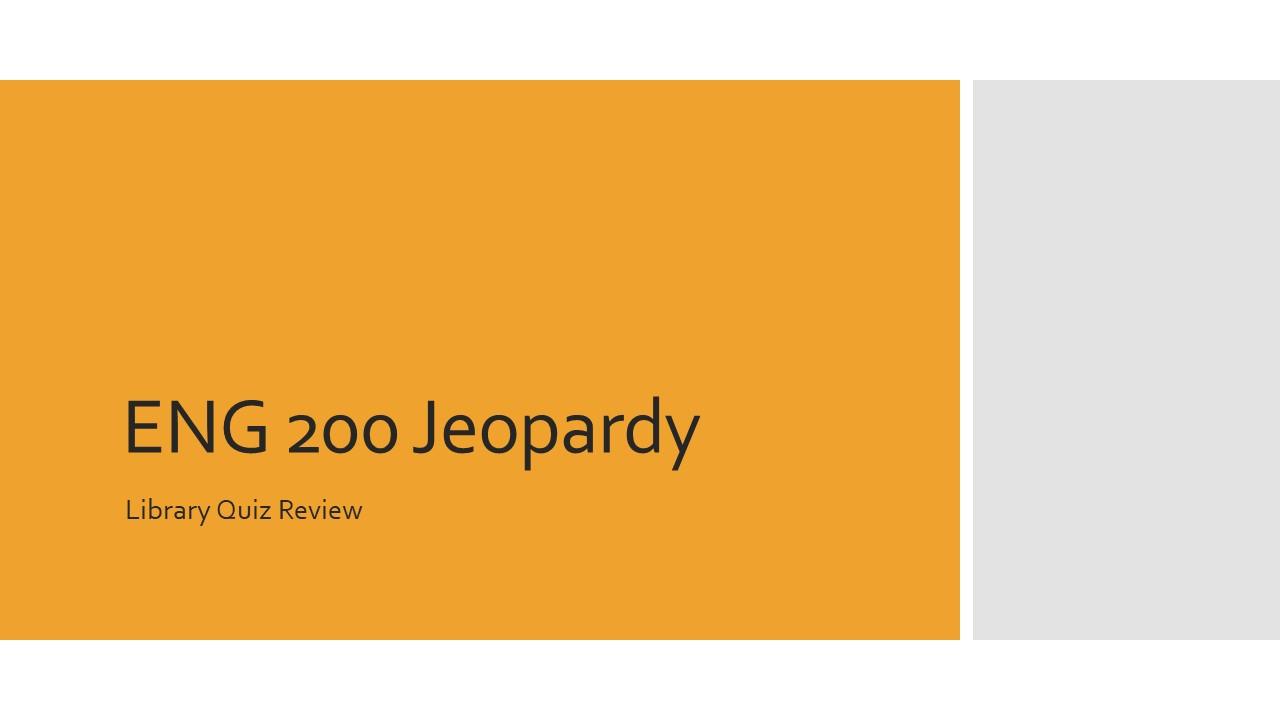 English Jeopardy Title