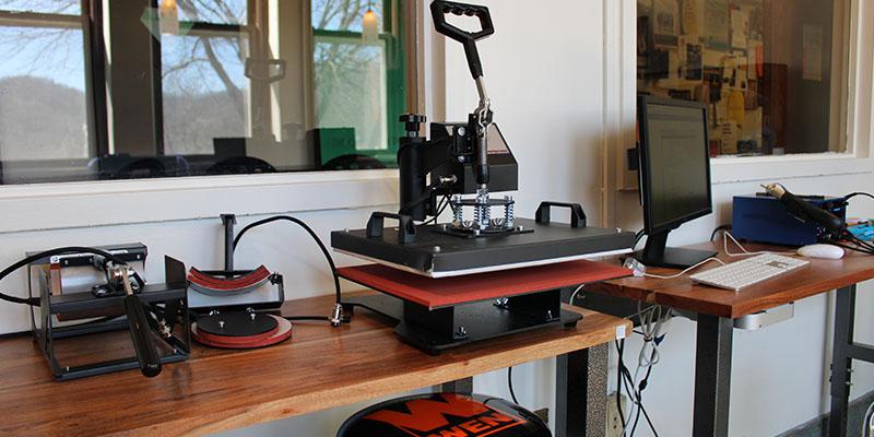 Camden Carroll Library Makerspace - Heatpress