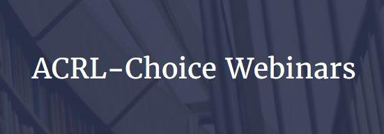 Logo: ACRL-Choice webinars