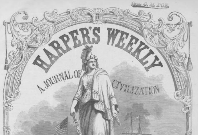 Harper's Weekly is available from HathiTrust from 1959 to 1916