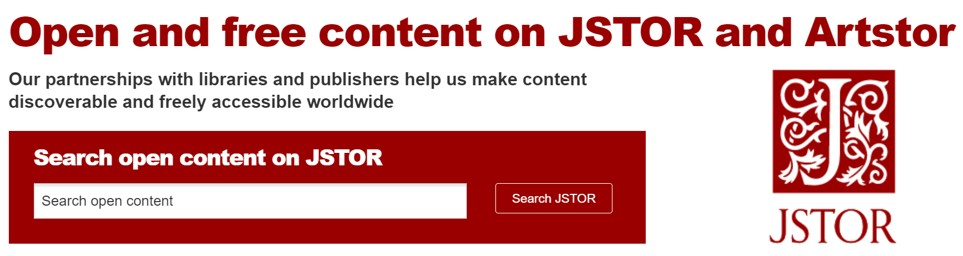 JSTOR Early Journal Content (freely available material published before the U.S. copyright date 1925 and world copyright date of 1870).