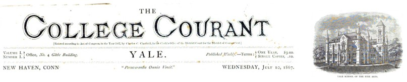 The College Courant masthead - July 10, 1867
