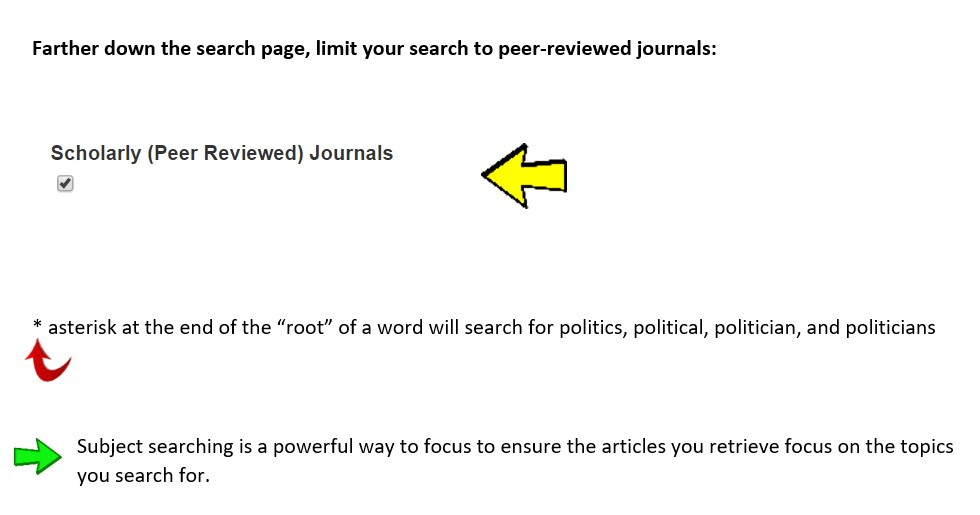 Limiting Public Affairs Index to Scholarly - Peer Reviewed Journals